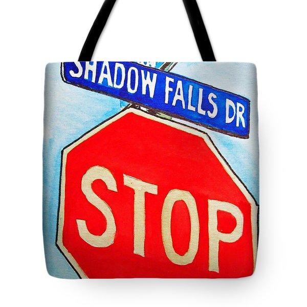 Stop Sign Sketchbook Project Down My Street Tote Bag by Irina Sztukowski