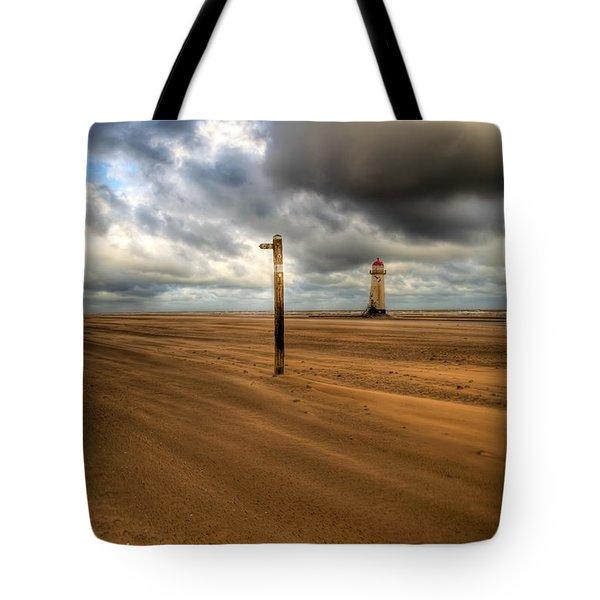 Storm Brewing Tote Bag by Adrian Evans