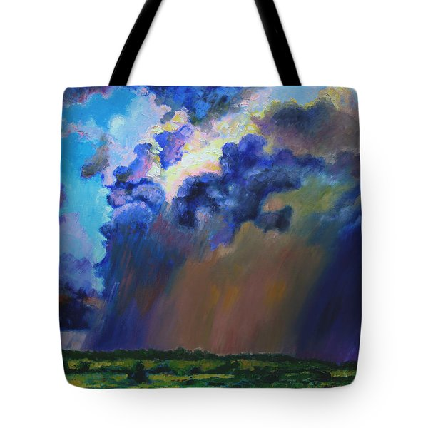Storm Clouds Over Missouri Tote Bag by John Lautermilch