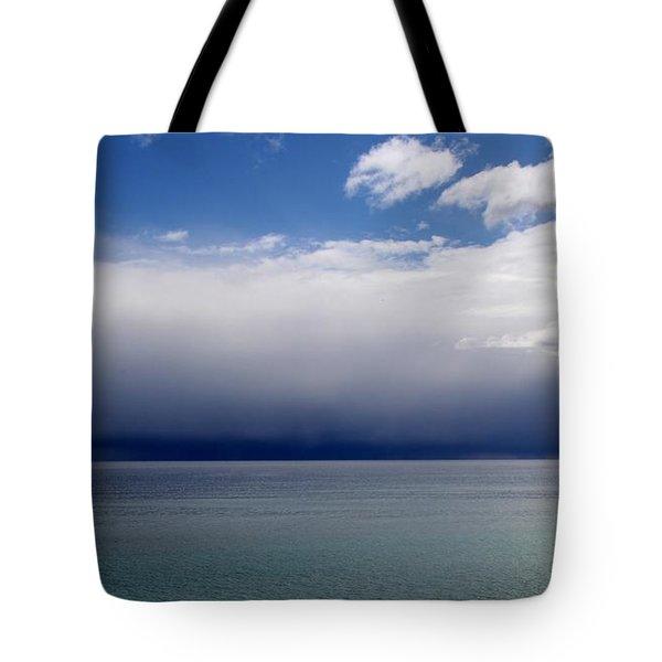 Storm On The Horizon Tote Bag by Davandra Cribbie