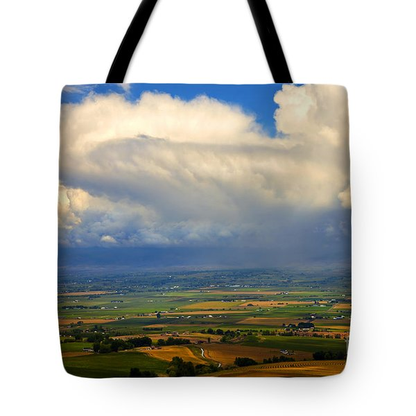 Storm Over The Kittitas Valley Tote Bag by Mike  Dawson