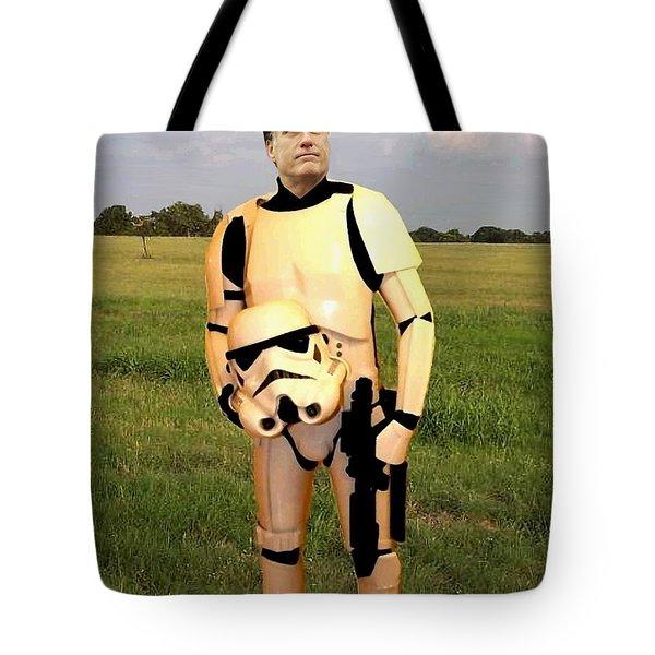Stormtrooper Mitt Romney Tote Bag by Paul Van Scott