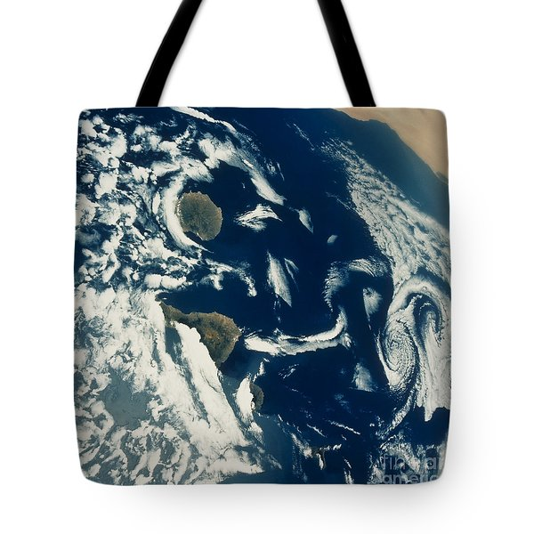 Stratus Cloud Formations Over Canary Tote Bag by NASA