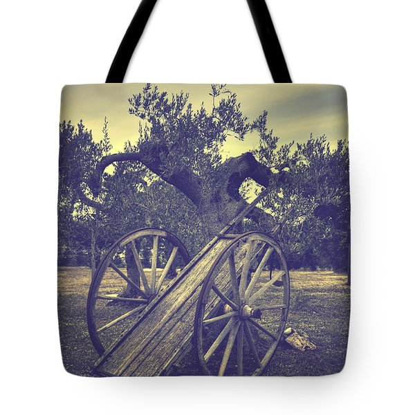 Straw Cart Tote Bag by Joana Kruse