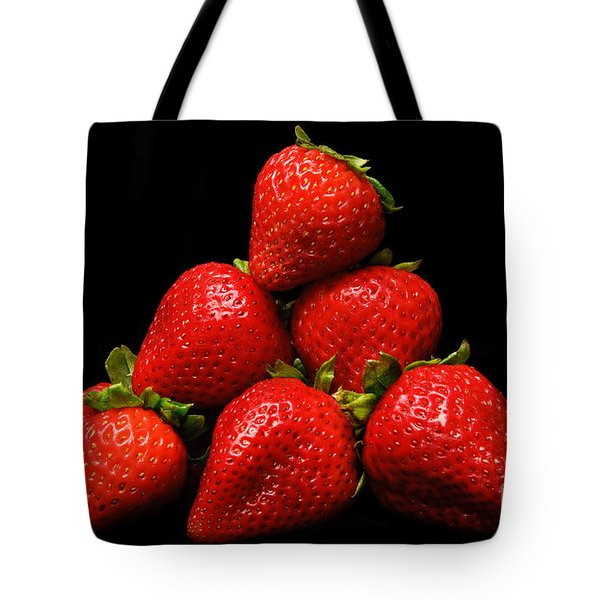 Strawberries On Velvet Tote Bag by Andee Design