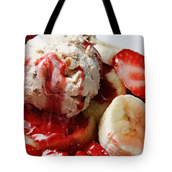 Strawberry Banana Shortcake 2 Tote Bag by Andee Design