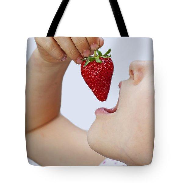 Strawberry Tote Bag by Joana Kruse