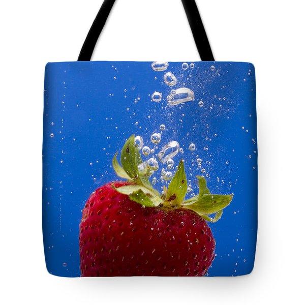 Strawberry Soda Dunk 5 Tote Bag by John Brueske
