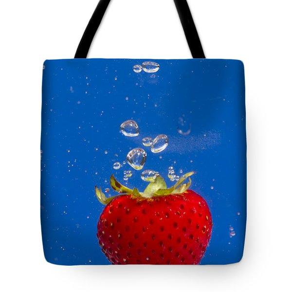 Strawberry Soda Dunk 6 Tote Bag by John Brueske