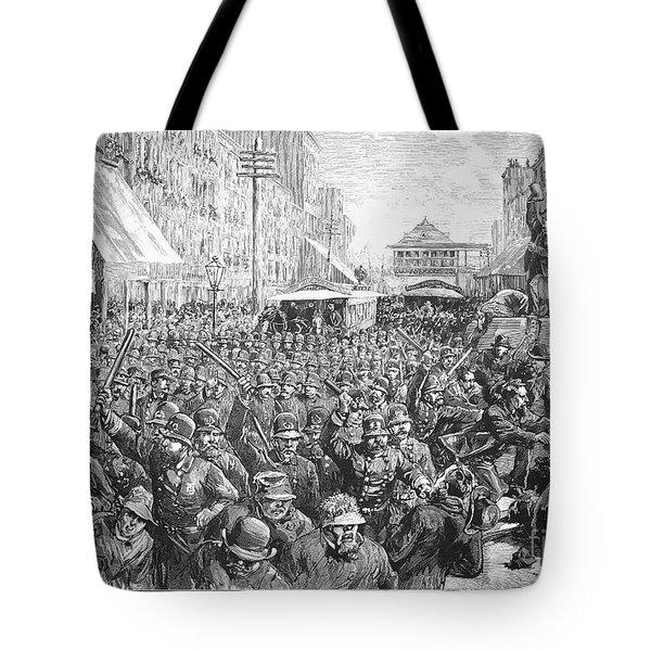 Street Car Strike, 1886 Tote Bag by Granger