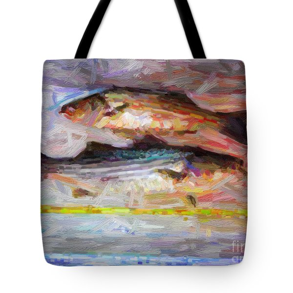 Striped Bass Keepers Tote Bag by Wingsdomain Art and Photography