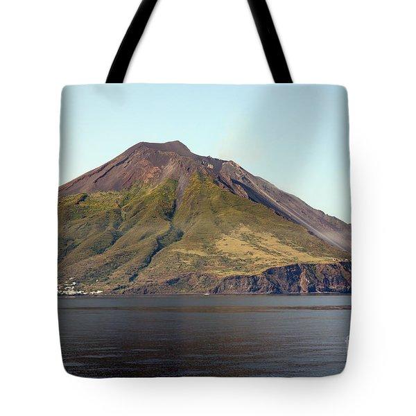 Stromboli Volcano, Aeolian Islands Tote Bag by Richard Roscoe