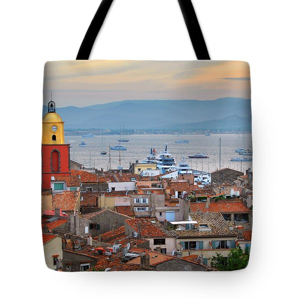 St.Tropez at sunset Tote Bag by Elena Elisseeva