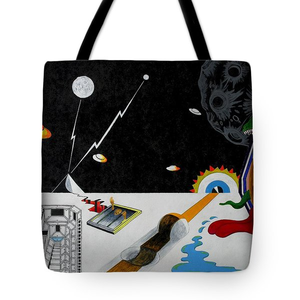Stuck In Time And Space Tote Bag by One Rude Dawg Orcutt