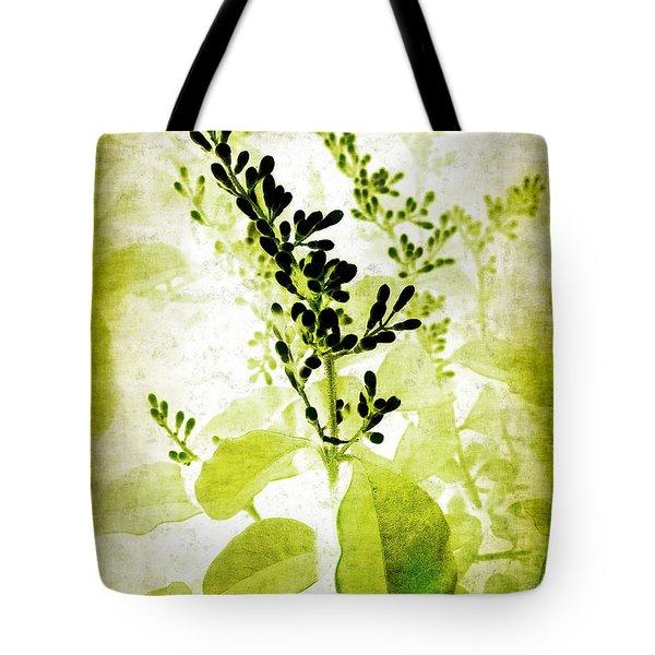 Study In Green Tote Bag by Judi Bagwell