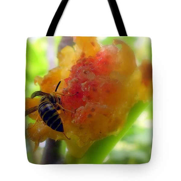 Succulent Fig Tote Bag by Karen Wiles