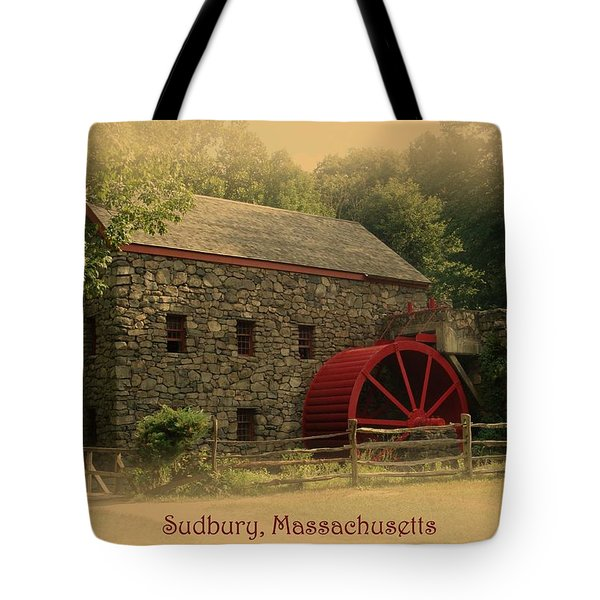 Sudbury Grist Mill Tote Bag by Patricia Urato