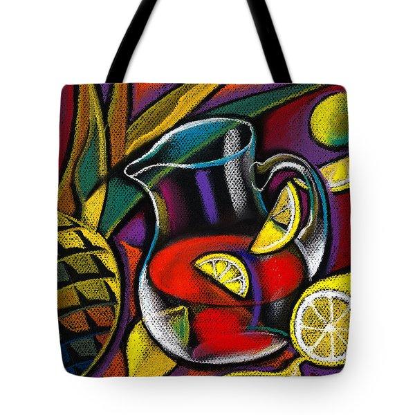 Summer Drink Tote Bag by Leon Zernitsky