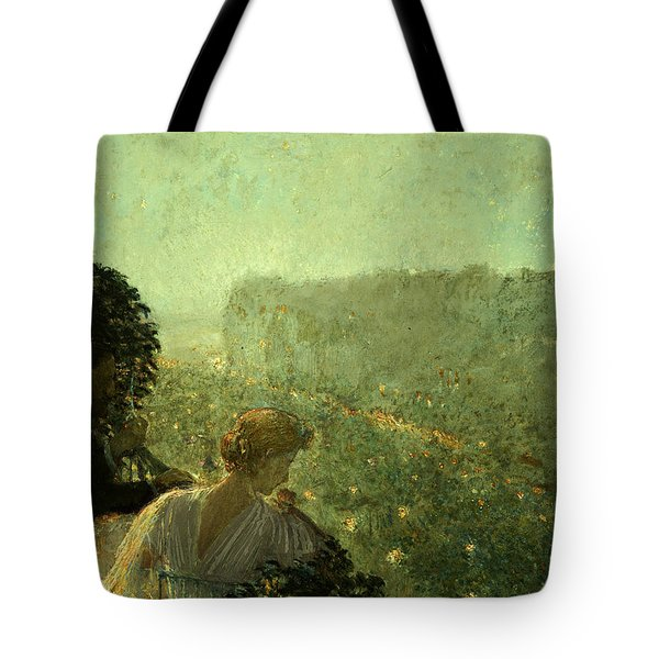 Summer Evening In Paris Tote Bag by Childe Hassam