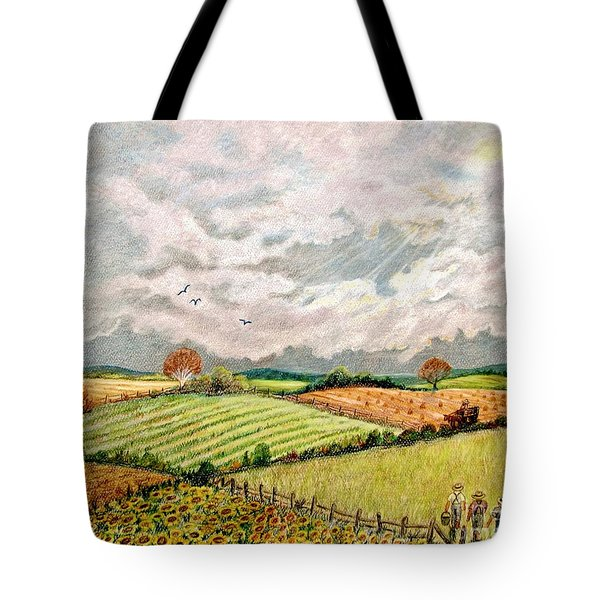 Summer Harvest Tote Bag by Marilyn Smith