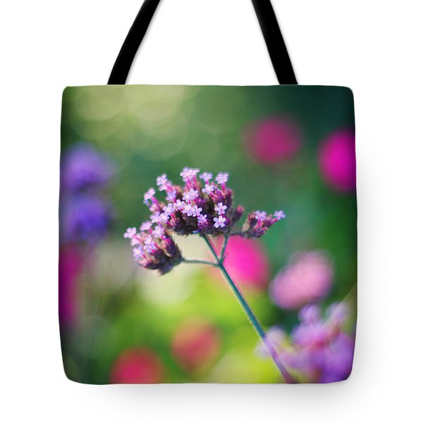 Summer Verbena Tote Bag by Amy Tyler