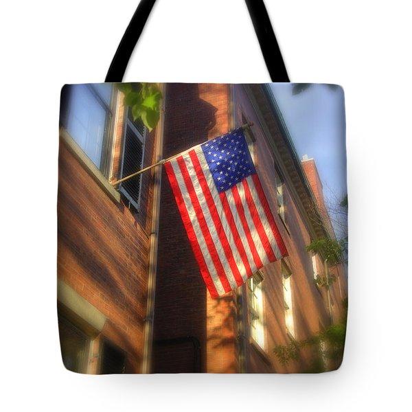 Sun Kissed Flag Tote Bag by Joann Vitali