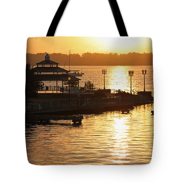 Sun Rising Tote Bag by Suzanne Gaff