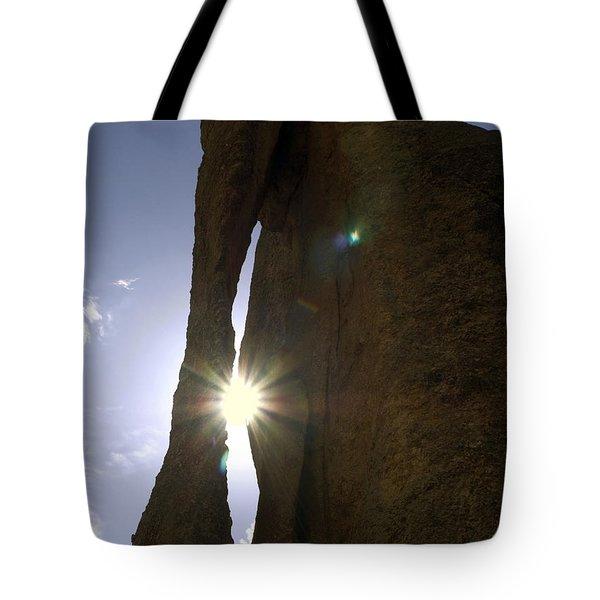 Sunburst Through Granite Tote Bag by Sally Weigand
