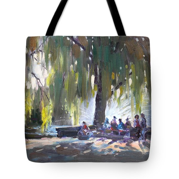 Sunday Afternoon By The Fontain Tote Bag by Ylli Haruni