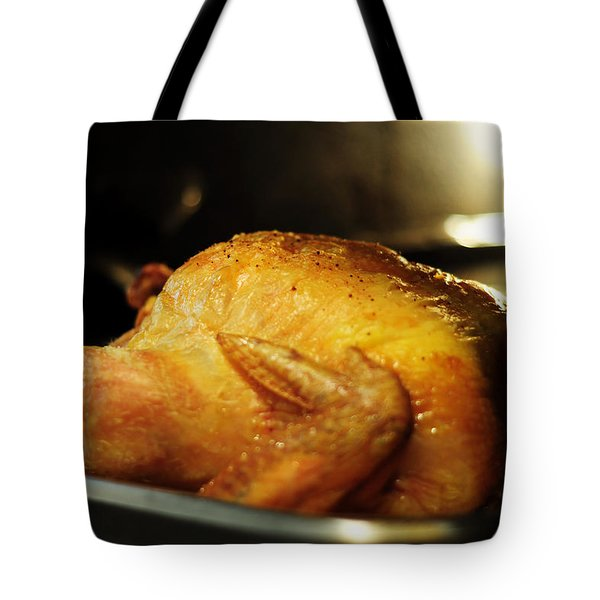 Sunday Chicken Tote Bag by Rebecca Sherman
