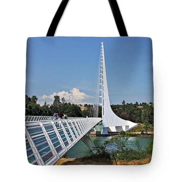 Sundial Bridge - Sit And Watch How Time Passes By Tote Bag by Christine Till