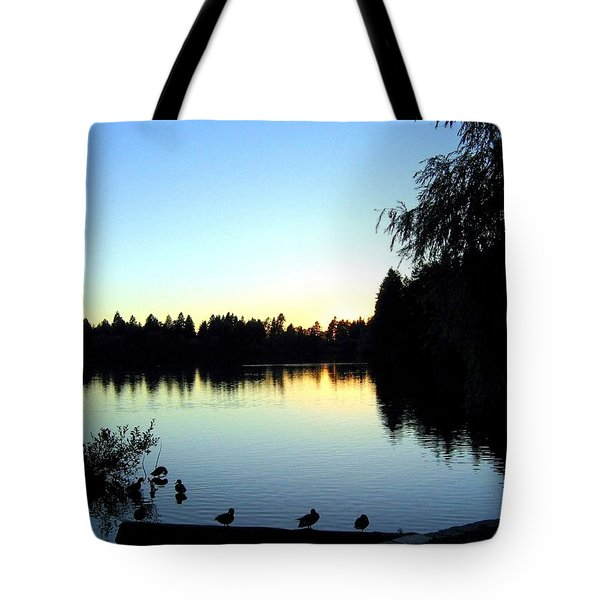 Sundown At Lost Lagoon Tote Bag by Will Borden