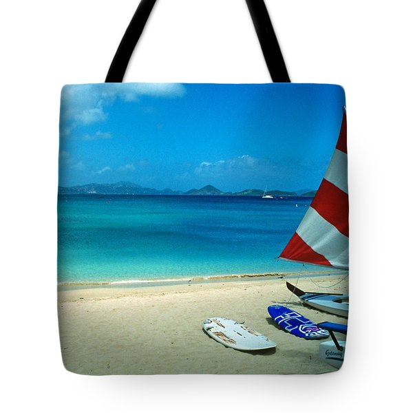 Sunfish On The Beach Tote Bag by Kathy Yates