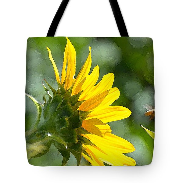 Sunflower 3 Tote Bag by Pamela Cooper