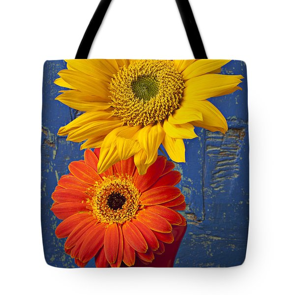 Sunflower And Mum Tote Bag by Garry Gay