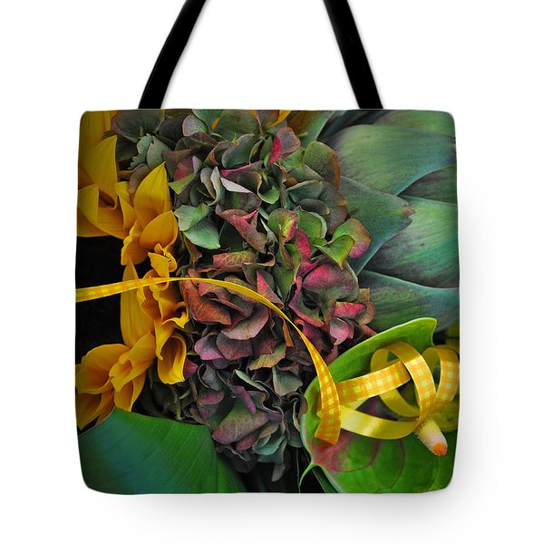 Sunflower And Thistle  Tote Bag by Mary Machare