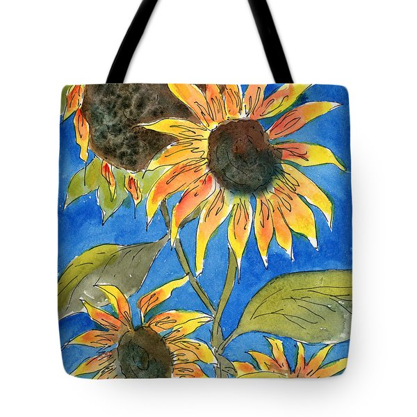 Sunflowers Tote Bag by Marsha Elliott