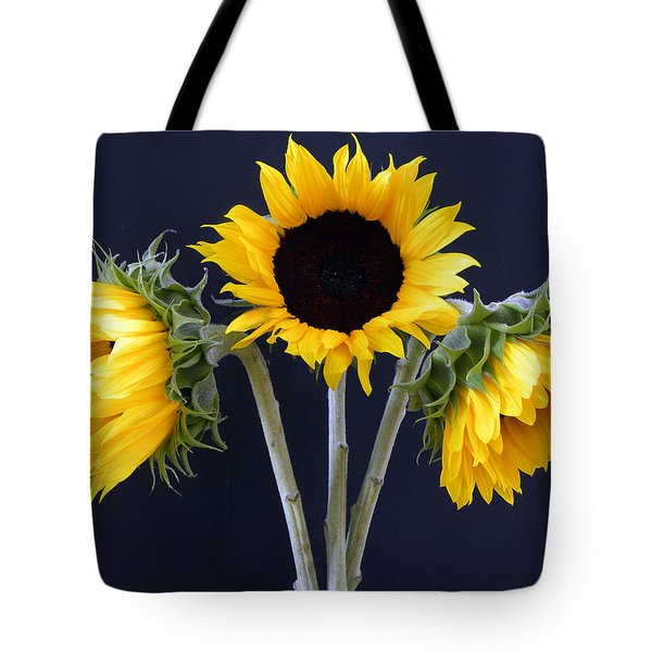 Sunflowers Three Tote Bag by Sandi OReilly