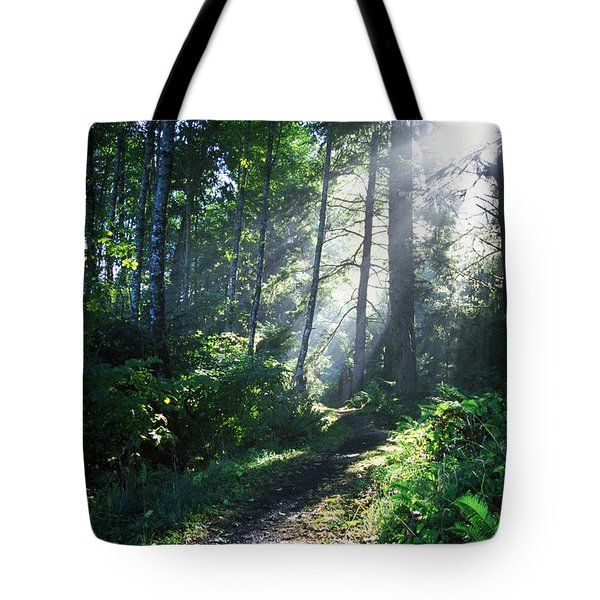 Sunlight Through Trees, Ecola State Tote Bag by Natural Selection Craig Tuttle