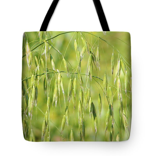 Sunny day at the oat field Tote Bag by Christine Till