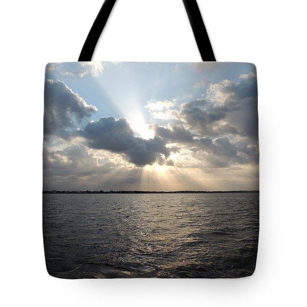 Sunrise Over Keaton Beach Tote Bag by Marilyn Holkham