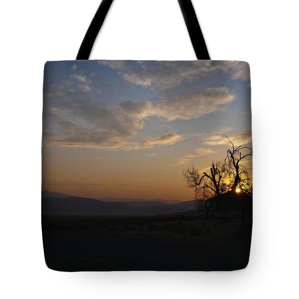 Sunrise Over Sand Pass Tote Bag by Kurt Golgart