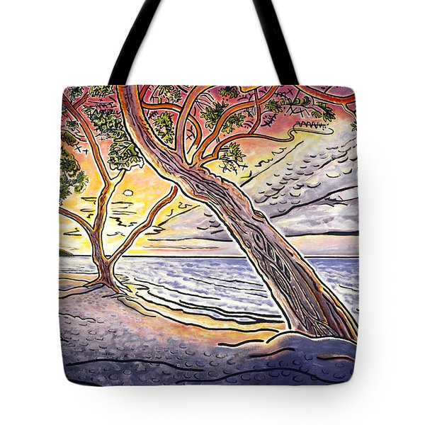 Sunset at Anaehoomalu Bay Tote Bag by Fay Biegun - Printscapes