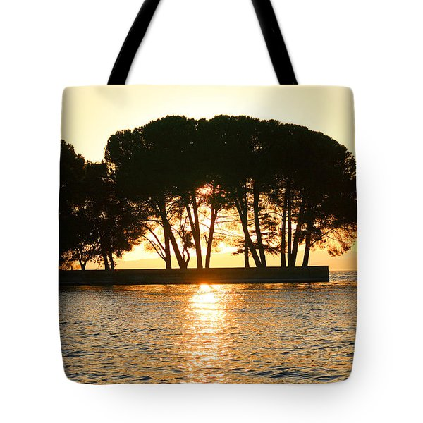 Sunset At Buckingham Point Tote Bag by Cheryl Young