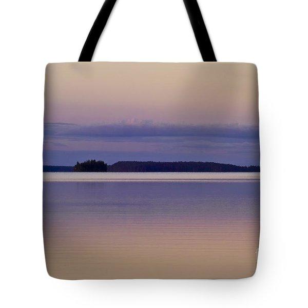 Sunset At Lake Muojaervi Tote Bag by Heiko Koehrer-Wagner