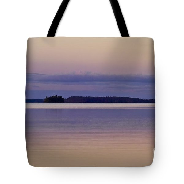 Sunset at Lake Muojaervi Tote Bag by Heiko Koehrer-Wagner