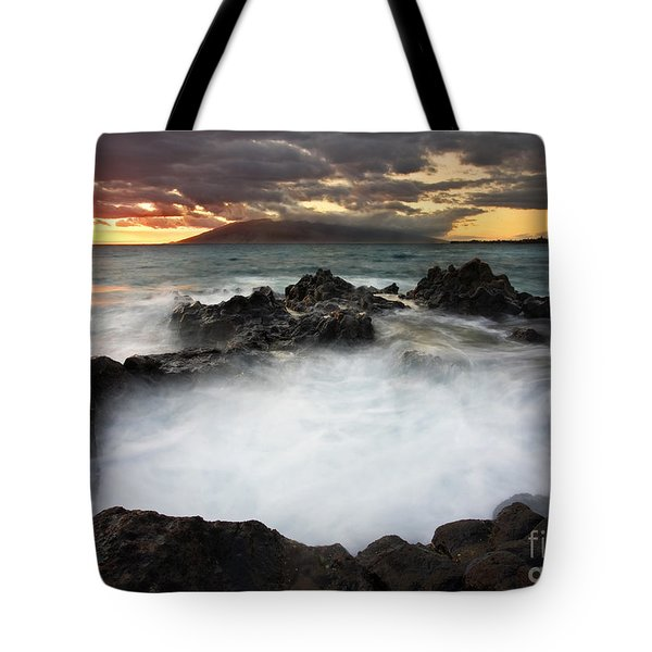Sunset Boil Tote Bag by Mike  Dawson