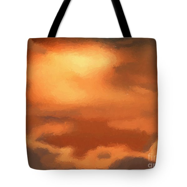 Sunset clouds Tote Bag by Pixel Chimp