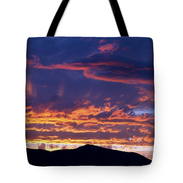 Sunset Tote Bag by David R Frazier and Photo Researchers