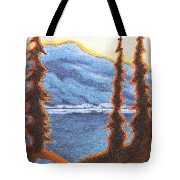 Sunset Fire Tote Bag by Amy S Turner